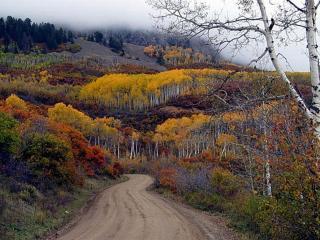 обои Дорога в горы фото