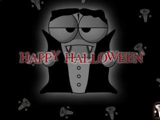 обои Вампир на хеллоуин фото