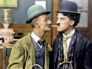 обои Чарли чаплин и еще один джентельмен фото