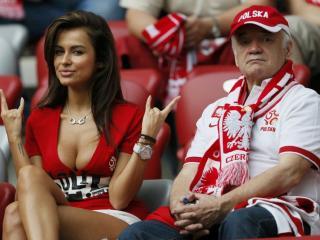 обои Фаны польской команды фото