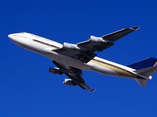 обои Пассажирский лайнер в воздухе Boeing-747