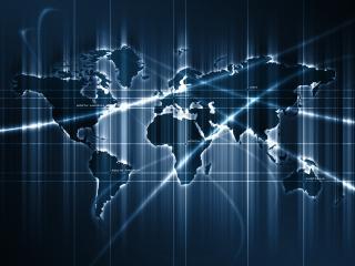 обои Карта мира (синяя) фото