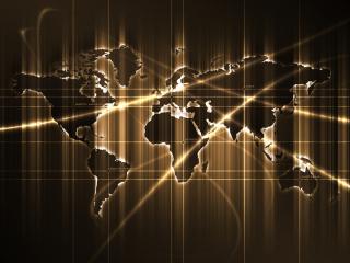 обои Карта мира (желтая) фото