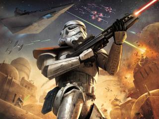 обои Дроид с лазерным оружием фото
