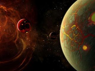 обои Космические тела в галлактике фото