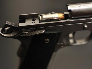 обои Патрон в пистолете фото