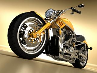 обои Классический мотоцикл а-ля Harley Davidson фото