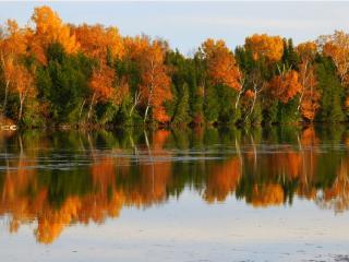 обои Природа осеннего озера фото