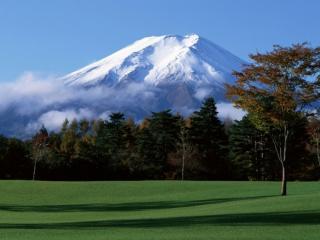 обои Природа у подножья вулкана фото
