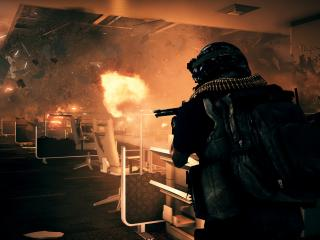 обои Battlefield 3 Close Quarters стрельба в здании фото