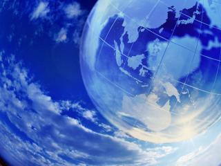 обои Глобус на небе фото