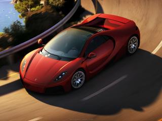 обои GTA Spano на крутом повороте фото