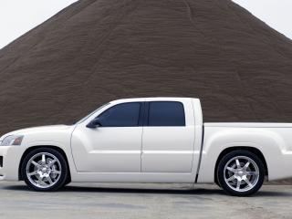 обои Mitsubishi Street Raider Concept белый красавец фото