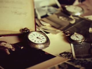 обои Старинные часы и фотографии фото