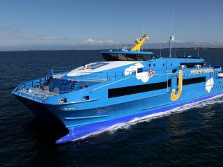 обои Шикарный синий корабль фото