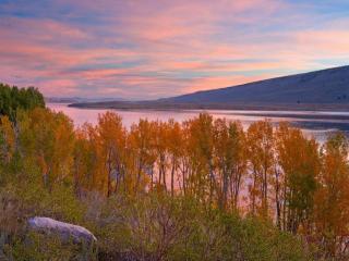 обои Осенний берег Северной реки фото