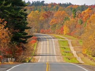 обои Асфальтированная дорога по холмах фото