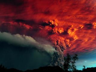 обои Вулканическая пыль с вулкана фото