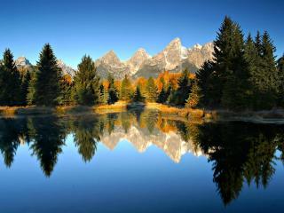 обои Зеркально гладкое озеро фото