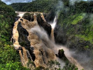 обои Грязные потоки воды водопада фото