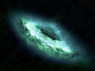 обои Голубая галактика фото