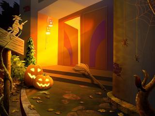 обои У дома на хеллоуин фото