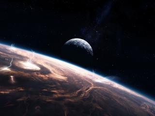 обои Планета в космосе фото