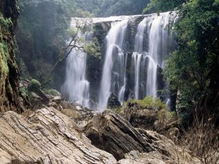 обои Каскад водопадов фото
