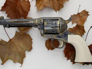 обои Лисья осенние и револьвер фото