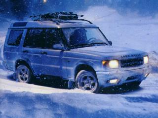 обои Land Rover Discovery в снегах фото