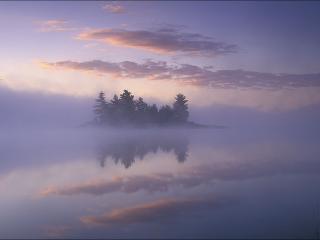 обои Рассветный туман фото