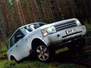 обои Range Rover забирается в горку фото