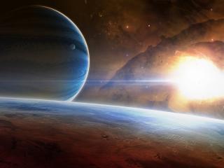 обои Вспышки в космосе фото