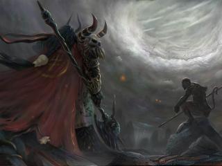 обои Воин гигант в фантастике фото