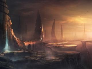 обои Мрачный мир на чужой планете фото