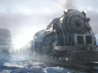 обои Рисунок старого поезда фото