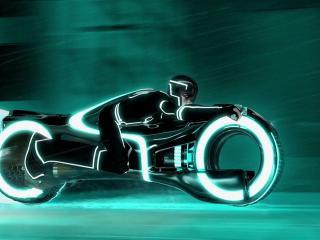 обои Рисунок гонщика на мотоцикле фото