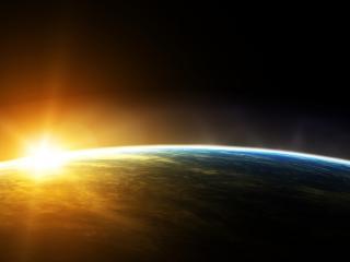 обои Свет над планетой фото