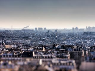 обои Вид города с высоты фото