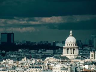 обои Крыши домов города с высоты фото