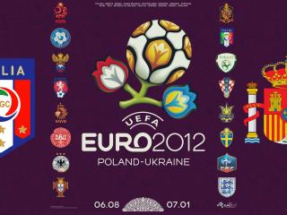 обои Эмблемы евро 2012 и команд принимавших участие фото
