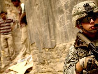 обои Американские военные на войне фото