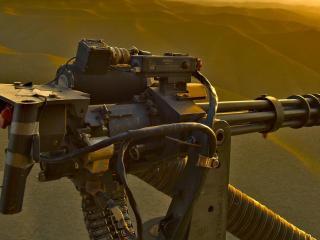 обои Орудие в пустыне фото