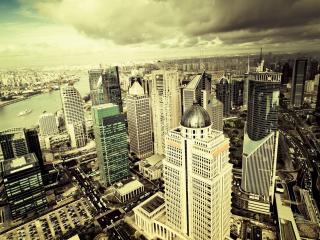 обои Панорама  многомиллионного города фото