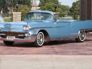 обои Cadillac Eldorado Biarritz серо голубой фото