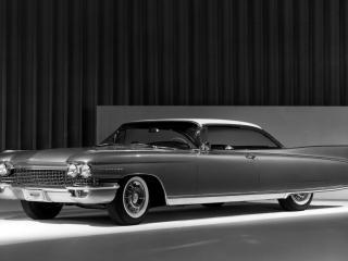 обои Cadillac Eldorado Convertible на черно-белом фото фото
