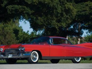 обои Cadillac Eldorado красного цвета фото