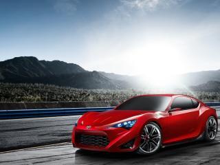 обои для рабочего стола: Scion FR-S concept красного цвета