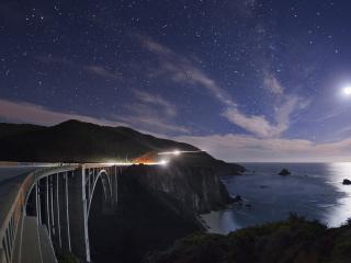 обои Мост в ночную пору фото