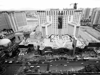 обои Черно-белое фото панорамы города фото